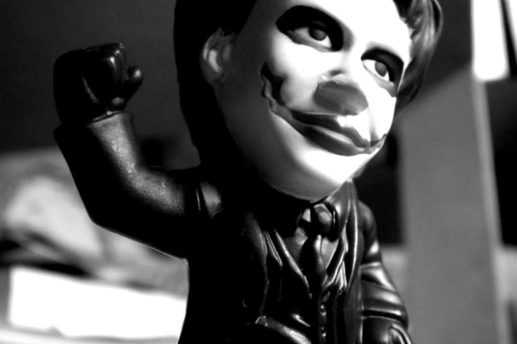 Kein Film über Stand-up-Comedy: Wie der Joker geschminkte Wackelfigur