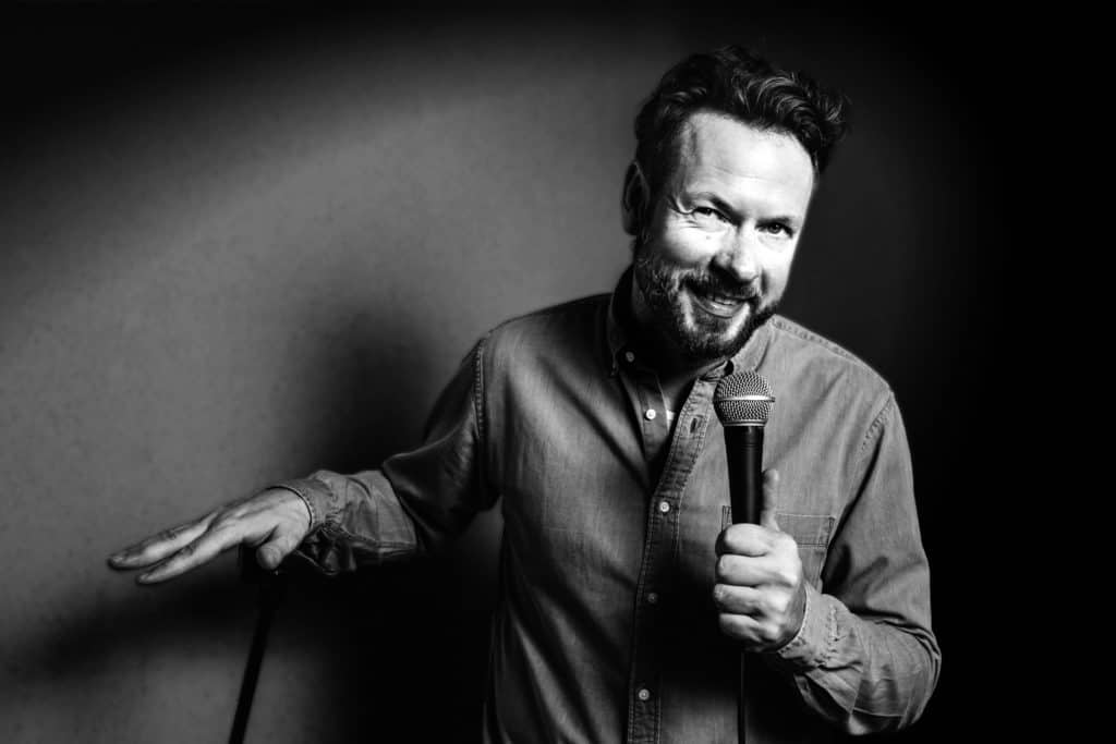 Der Berliner Stand-up-Comedian Henning Wechsler