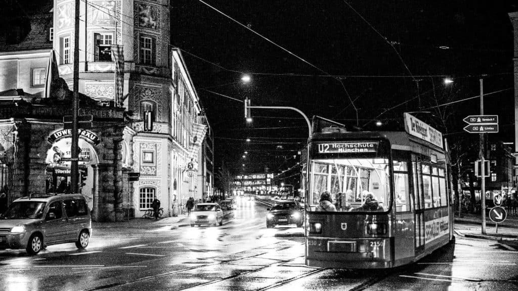 Tram am Stiglmaierplatz in München